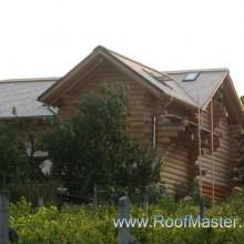 Крыша из канадского кедра. Частный дом с.Валя Сатулуй.