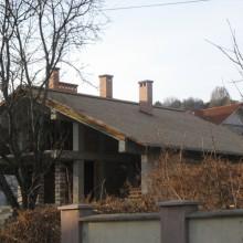 Крыша из кедровой дранки. Частный дом г.Кишинев